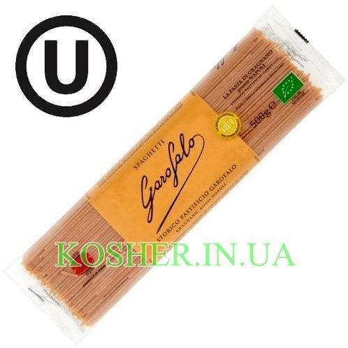 Макароны кошерные Цельнозерновые Spaghetti Organic, Garofalo, 500г