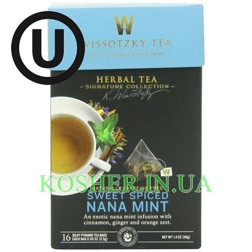 Чай травяной мята сладко-пряный, Wissotzky, 16пак