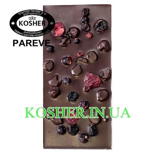 Шоколад кошерный Вишня-Смородина 770 74%, Millenium, 100г / שוקולד מריר
