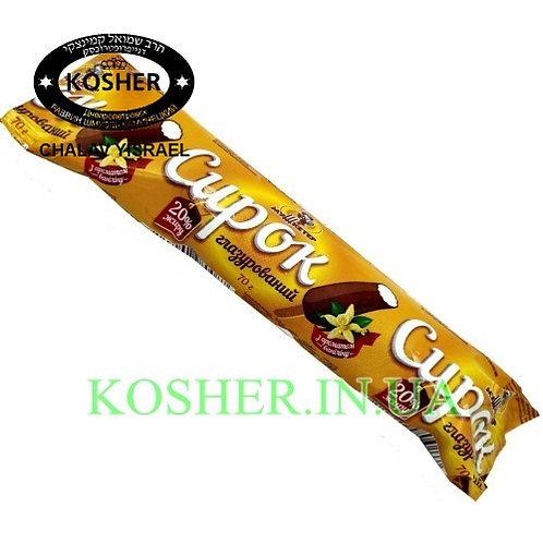 Сырок кошерный ванильный в Шоколаде на палочке 20%, Мушкетер, 70г