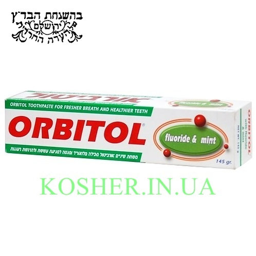 Зубная паста кошерная Menthol, Orbitol, 145г