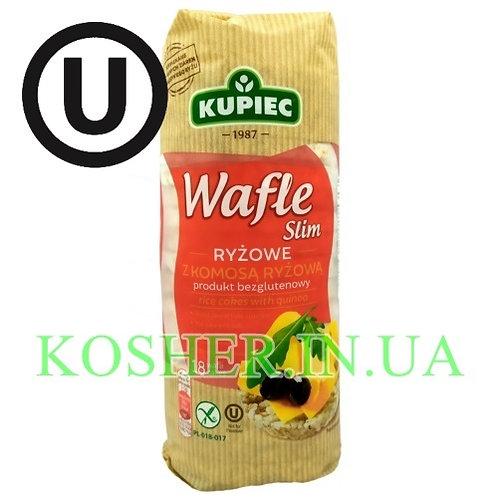 Крекисы кошерные Рисовые с семенами Киноа, Kupiec, 90г / פריכיות אורז