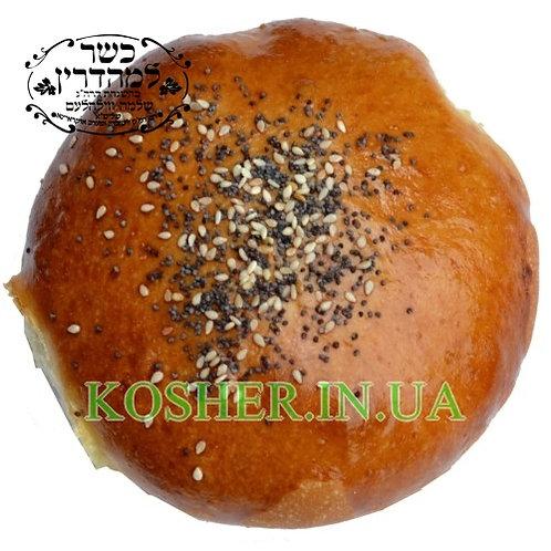 Булочка кошер. Гамбургер Пшеничная мезанот, БП ,100г