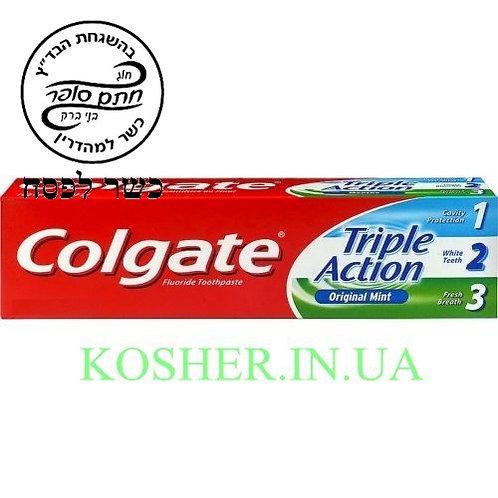 Зубная паста кошер на Песах Triple Action, Colgate, 75г / משחת שיניים כשר לפסח