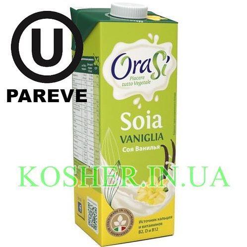 Соевое молоко кошерное Ванильное, OraSi, 1л / חלב סויה בטעם וניל פרווה
