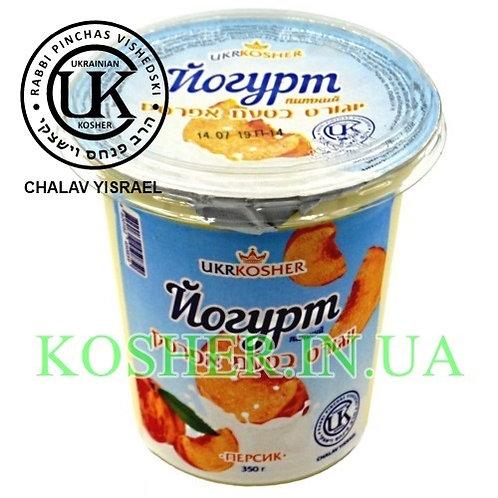 Йогурт кошерный питьевой Персик 2.5%, ЛВК, 350г / יוגורט בטעם אפרסק
