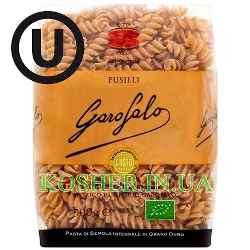 Макароны кошерные Цельнозерновые Fusilli Organic, Garofalo, 500г