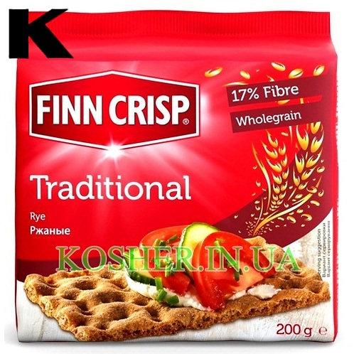 Хлебцы кошерные Ржаные традиционные, Finn Crisp, 200г / פת פריכה שיפון