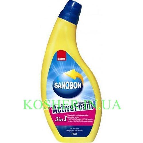 Для мытья унитаза Sanobon Active Foam 3в1, Sano, 750 мл