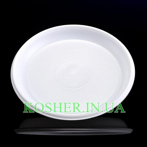 Тарелка одноразовая мелкая, 165мм, уп.(100шт)