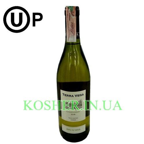 Вино Шардоне белое сухое кошерное на Песах, Terra Vega, 0.75л