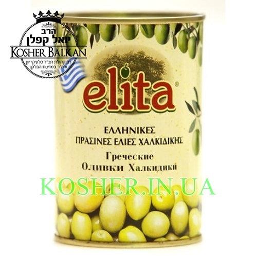Оливки кошерные зеленые в рассоле, Elita, 420г