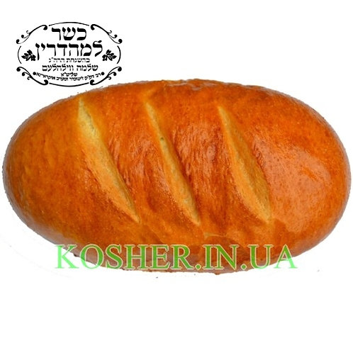 Хлеб кошерный Батон Нарезной Пшеничный, БП, 500г