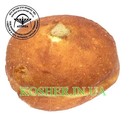 Пончик кошерный БОЛЬШОЙ с Печенкой (мясной), Розмарин, 90г / סופגניה עם כבד בשרי