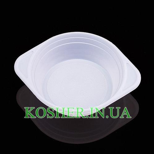Тарелка одноразовая глубокая, 500мл, уп.(100шт)