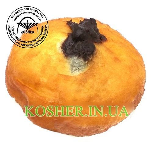 Пончик кошерный БОЛЬШОЙ с Лимонным кремом, Розмарин, 90г / סופגניה עם קרם לימון