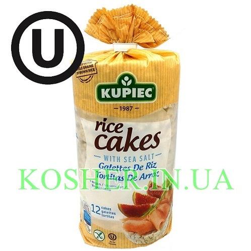 Крекисы кошерные Рисовые с Морской солью, Kupiec, 120г / פריכיות אורז עם מלח ים