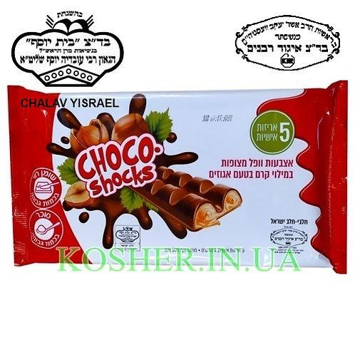 Вафли кошерные Choco-shocks молочные в шоколаде, Polus, 200г