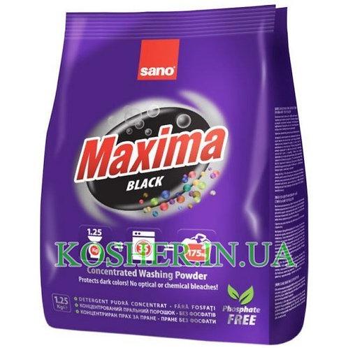 Стиральный порошок  Maxima Black, Sano, 1,25 кг