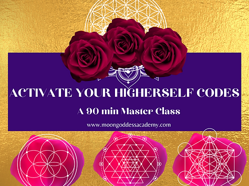 Higher Self Light Codes Master class and Activation