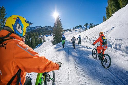 Randonnée / Cours de pilotage VTT sur neige sur le domaine skiable de CHATEL