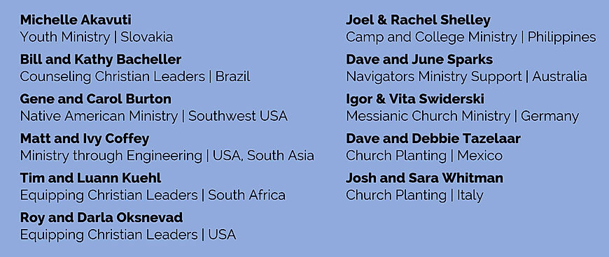 Grace Bible Church Missionaries & Locations