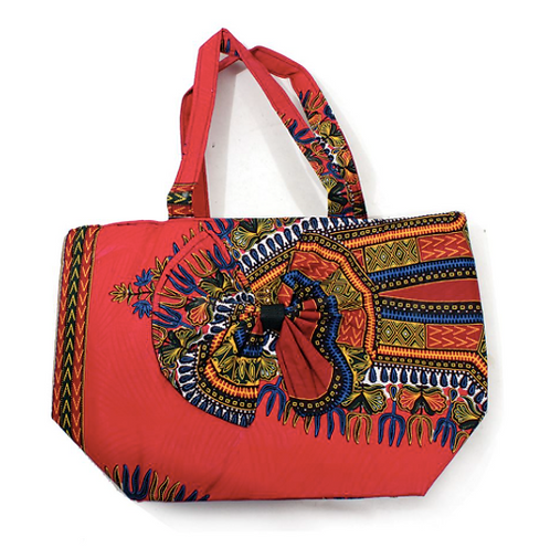 Traditional Print Beauty-Bow Tote Bag