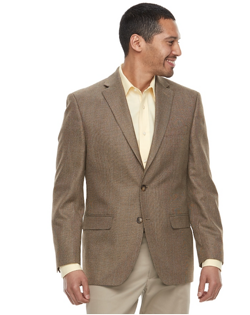 Mens Classic-Fit Patterned Sport Coat
