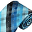 Thumbnail: L-32 | MULTI-SHADE BLUE AND BLACK CROSS WEAVE WOVEN NECKTIE