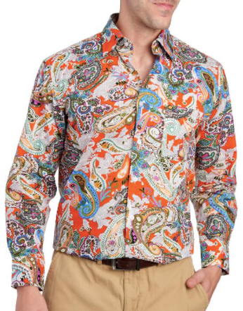 ALAN FLUSSER Exclusively Ours - Paisley Print Button Down Shirt
