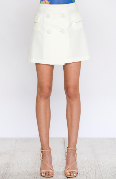 A-LINE SKIRT WITH FRONT BUTTONS