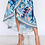 Thumbnail: TROPICAL FLORAL PRINT WRAP DRESS WITH RUFFLED HEM