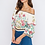 Thumbnail: OFF-THE-SHOULDER FLORAL PRINT CROP TOP WITH TIED BACK