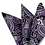 Thumbnail: DH-03 | PURPLE, WHITE AND BLACK WOVEN PAISLEY HANDKERCHIEF