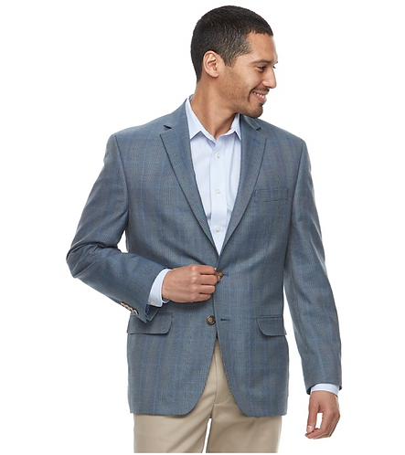 Mens Classic-Fit Patterned Sport Coat