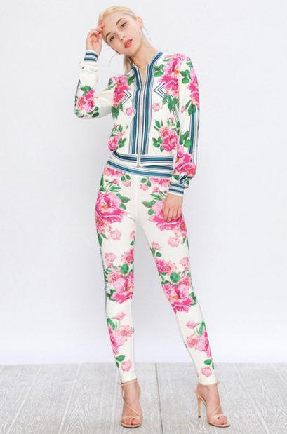 Floral Mix Print Tracksuit