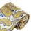 Thumbnail: DT-12 | MUSTARD AND STEEL BLUE ON PLATINUM WOVEN PAISLEY NECKTIE