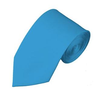 SL-18 | SOLID TURQUOISE BLUE SLIM TIE FOR MEN