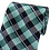 Thumbnail: L-14 | MULTI AQUA BLUE, GREEN, BLACK AND SILVER PLAID WOVEN NECKTIE