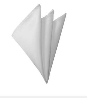 H-20 | SOLID WHITE HANDKERCHIEF