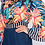 Thumbnail: OFF-THE-SHOULDER FLORAL CROP TOP WITH BACK TIE AND WIDE SLEEVES