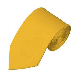 SL-48 | SOLID GOLDEN YELLOW SLIM TIE FOR MEN