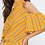 Thumbnail: HIGH NECK COLD SHOULDER TOP WITH STRIPE PRINT