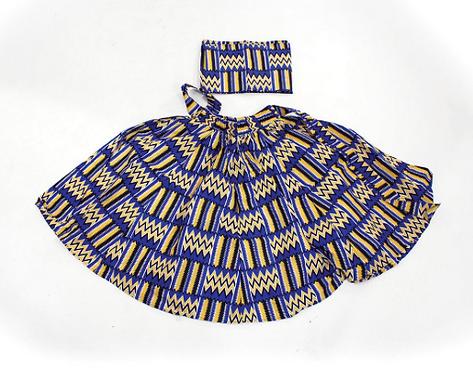 Blue/Yellow Kente Skirt