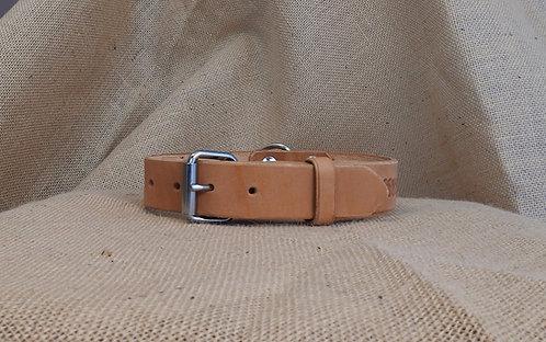 Kožený obojek, zdobený, šířka 3,4 cm