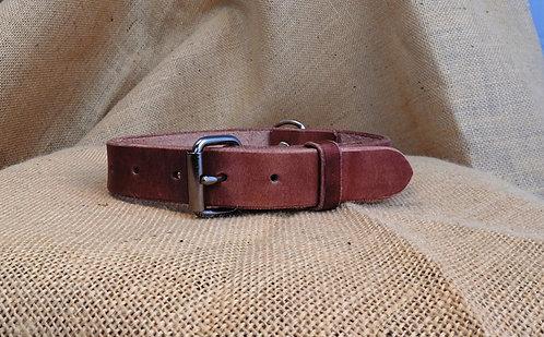 Kožený obojek, hladký, šířka 2,9 cm