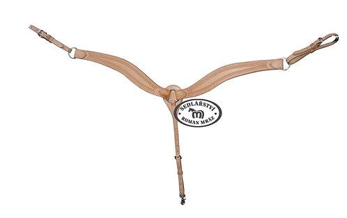 Kožený westernový náprsník, zdobený