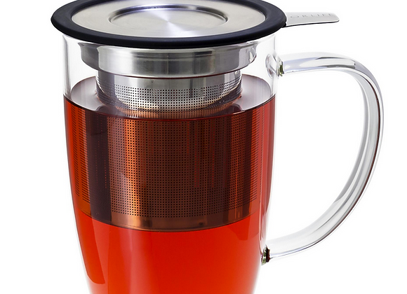 Tall Tea Mug with Infuser & Lid