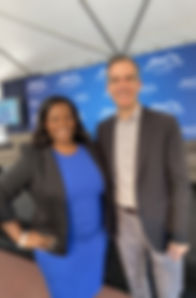 Perfectly Packaged You CEO Nickeya Hannah with Los Angeles Mayor Gil Garcetti