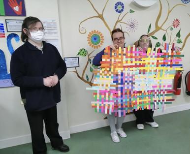 Paper weaving - collaborative project.jp